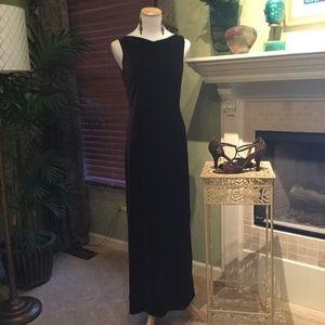 Long Brown Velvet Ann Taylor Dress